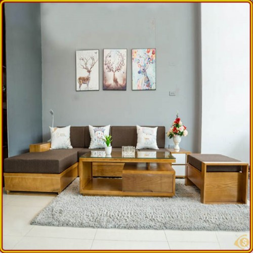 Shaped L02 - Oak : Bộ Sofa Góc L - 2m8