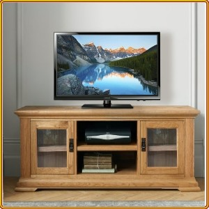 French Oak : TV 120cm - Kệ Ti Vi , CD + 2 Cánh Kính