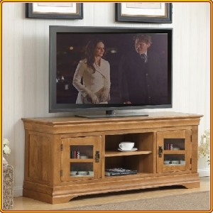 French Oak : TV 150cm - Kệ Ti Vi , CD + 2 Cánh Kính
