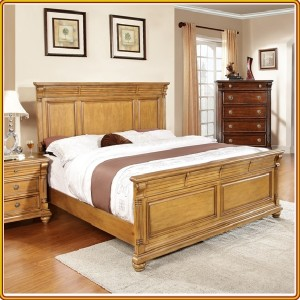2133 - Oak : Giường Ngủ Queen Size
