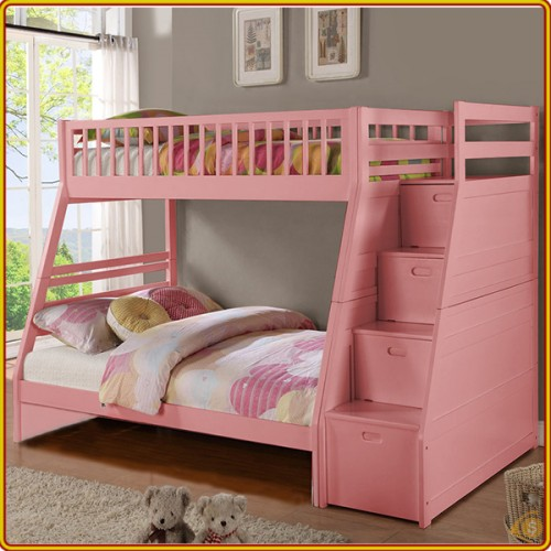 BS192 - Pink : Giường 3 Tầng - 1m4